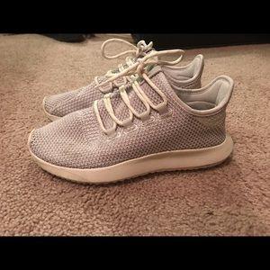 adidas Shoes - Cream Adidas Tubular Shadow athletic shoes